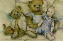 Classic Bears and Doll